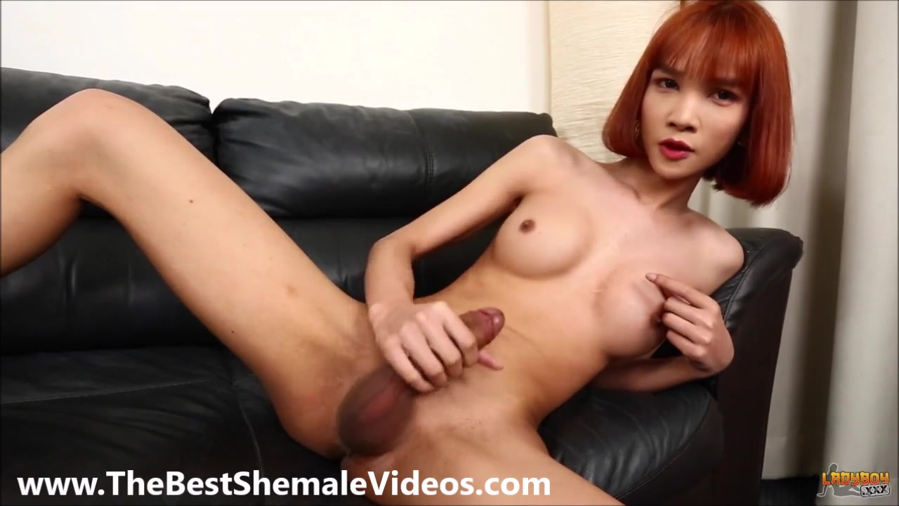 Alluring chinese strip shemale
