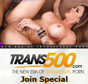Trans500 shemale model Gia Itzel getting fucked. Plus Trans500 logo